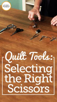 ZJ Humbach delivers essential tips on selecting appropriate scissors for creating beautiful quilts. Learn the benefits of using different kinds of scissors and the proper techniques to prevent potential cutting or trimming mistakes. Discover what scissors are the best investment for you to detail and finish your own quilts.