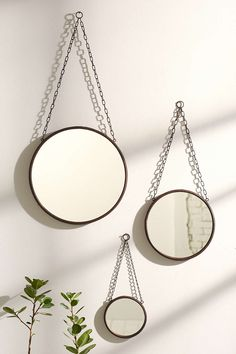 Switch out the chair to that of leather, ribbon, etc to make the mirror fit your style! Comes in three sizes #juliagoodwindesign