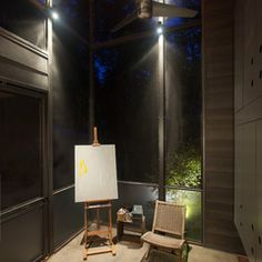 modern porch by Hugh Jefferson Randolph Architects