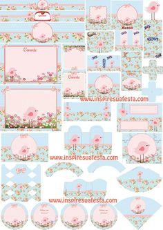 Passarinho-rosa-e-azul-provençal-Personalizados                                                                                                                                                                                 Mais