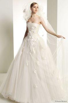 zuhair murad bridal 2013 kerry wedding dress strapless tulle ballgown