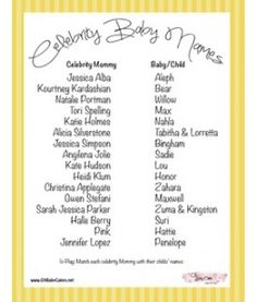 Printable Personalized Ducky Everything Baby Shower Game ...