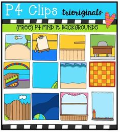 I hope you will find so much to do with these and the P4 FIND IT Sets you already have!HAVE FUN!The possibilities are endless!This clip art set includes 24 images. There are 12 vibrant coloured images and 12 black and white images.If you like this set I'd love to have your feedback for my shop.