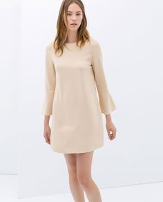 Image 1 of DRESS WITH BELL SLEEVES from Zara   http://www.zara.com/ca/en/woman/dresses/dress-with-bell-sleeves-c358003p1789553.html