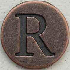 Copper Uppercase Letter R by Leo Reynolds, via Flickr