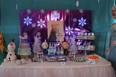 Frozen Theme Joint Birthday Party | CatchMyParty.com