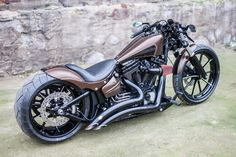 "▷ Harley Davidson Breakout Softail Custom ""Kilimanjaro"" by N.-▷ Harley Davidson Breakout Softail Custom ""Kilimanjaro"" by Nine Hills ▷ Harley Davidson Breakout Softail Custom ""Kilimanjaro"" by Nine Hills - Harley Davidson Images, Harley Davidson Chopper, Harley Davidson Breakout Custom, Harley Davidson Night Train, Classic Harley Davidson, Harley Davidson Street, Harley Davidson Motorcycles, Softail Bobber, Street Bob"