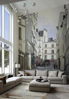* janelas * papel de parede * luminária