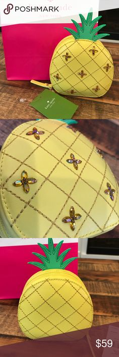 Kate Spade Pineapple Coin Purse How Refreshing NWT Brand new with tags, super cute coin purse. 100% authentic Kate spade kate spade Bags Mini Bags