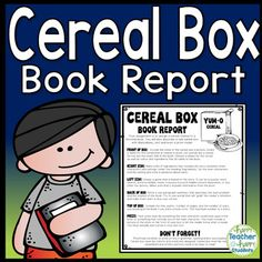 Third Grade Cereal Box Book Report  Teaching Reading
