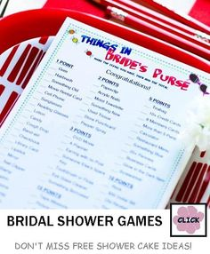 3095fb0c2fb Bridal Shower Game - Things in a Brides Purse Game by Beau-coup