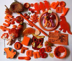 Orange stuff by Betty Jo Designs, via Flickr