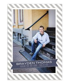 Brayden 5x7 Senior Flat Card