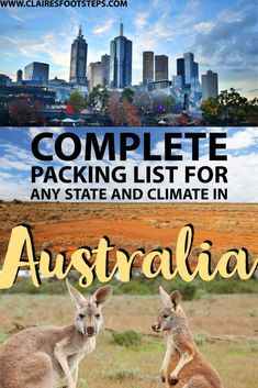 Check out this Australia packing list for ideas on what to pack for Australia, no matter what climate. Whether you're wondering what to take to Australia in winter or summer, this guide has you covered! It also mentions some great travel gear to take to Australia and what you'll need for every activity - from tanning on the beach to hiking in the mountains. #australia #packinglist