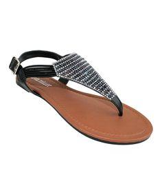 b9d050b6 Take a look at this Black Rhinestone Potenza Sandal today! Olivia Miller,  Black Rhinestone