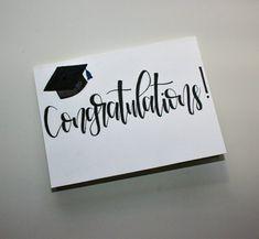 Congratulations Card Graduation, Graduation Cards Handmade, Graduation Diy, Handmade Cards, Calligraphy Cards, Modern Calligraphy, Sister Cards, Custom Cards, Lyrics