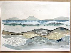 Lazy sunday enjoying #Watercolour #drawing #landscape #seascape #watercolor #watercolorpainting #DailySketch