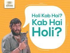 There's always one enthusiastic person... Happy Holi