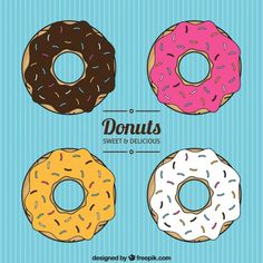 Donuts Collection Free Vector