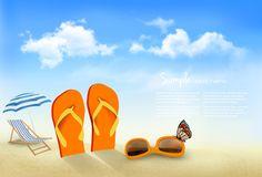 Summer beach vacation background art vector 04