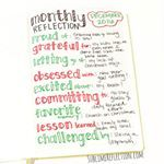 A simple monthlyreview in my bulletjournal  Its fun to look back on these over time  sublimereflection planwithmechallengebulletjournal bulletjournaljunkies bulletjournaling bulletjournallove bulletjournalcommunity plannercommunity planneraddict plannerlove businessplanning sublimereflection bossgirlbujo bohoberrytribe