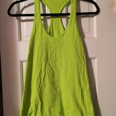 Lululemon Cool Racerback Tank Neon Green 6 Fun Lululemon cool racerback tank in neon green. Size 6, excellent condition. Great color for spring! lululemon athletica Tops Tank Tops