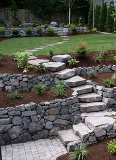 Garden Steps ~ natural stone