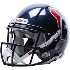 NFL Houston Texans Speed Authentic Football Helmet by Riddell. $221.31. Collectible, not to be worn for play.. Large shell, aggressive facemask, authentic internal padding, and 4-point chinstrap.. With its new distinctive shell design, the Speed helmet is being adopted by premier athletes at a furious pace.. Great for autographs.. Available in official team colors and decals.. The Speed Authentic Helmet is the ultimate Houston Texans fan collectible helmet. With a new...