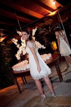Ana Luisa 13 Bem Casada | Bem Casada Marriage, Flower Girl Dresses, Tea, Wedding Dresses, Fashion, White Shift Dresses, Pregnant Wedding Dress, Pregnant Brides, Gray Dress