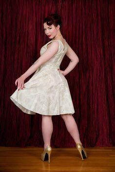 Marie Dress - Shimmer Gold