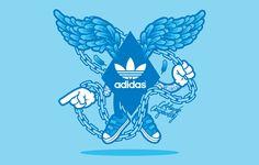 Adidas Originals / Jared Nickerson / 2011  https://www.behance.net/gallery/7168947/Adidas-Originals-Jared-Nickerson  http://www.reach.tv/creatives/jared-nickerson/adidas