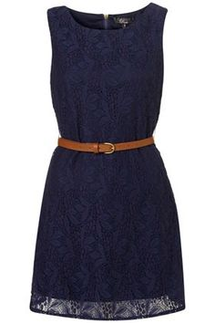 belted navy dress