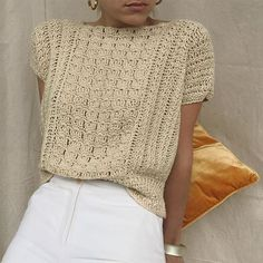 Blusas Top, Crochet Magazine, Crochet Top, Autumn Crochet, Knitwear, Turtle Neck, Pullover, Knitting, Crocheting