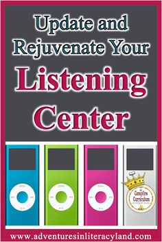Update and Rejuvenate Your Listening Center (Adventures in Literacy Land) Curriculum, Homeschool, Listen To Reading, Primary Classroom, Kindergarten Literacy, Teaching Strategies, Learn To Love, Book Lists, Good Books