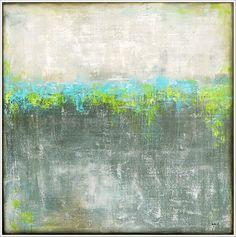 """urban skyline"", acrylic on canvas - by Antje Hettner"