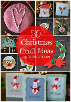 Christmas Craft Roundup - kid crafts, gifts and recipes!