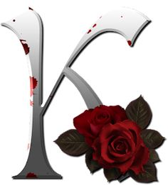 """Photo from album """"Gothic white alfabet with red rose"""" on Yandex. Cute Alphabet, Alphabet Art, Monogram Alphabet, Alphabet And Numbers, Decoupage, Flowery Wallpaper, Minnie Png, Apple Wallpaper Iphone, Name Letters"""