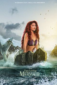 Disney's live-action The Little Mermaid may have found its star in Zendaya, and new fan art imagines what the actress could look like as Ariel. Disney Cinema, Film Disney, Disney Live, Disney Magic, Disney Art, Little Mermaid Movies, Disney Little Mermaids, Ariel The Little Mermaid, Mermaid Disney