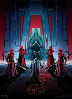 4 of 4 posters by Dan Mumford for The Last Jedi as part of the giveaways each week when you see the film in IMAX at AMC theatres.