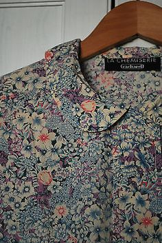 cacharel-haut-chemise-blouse-liberty-col-peter-pan-preppy