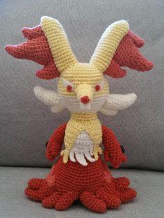 #655 Delphox - free crochet pattern at Crochetemall.
