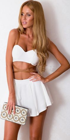 Sexy Bandeau Tops + Skirts Two-piece Set