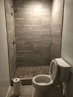 Jeffrey Court Bailey Grey Pebble 12 in. x 12 in. x 10 mm Honed Marble Stone Mosaic Wall/Floor - The Home Depot Small Bathroom With Shower, Bathroom Design Small, Bathroom Interior Design, Neutral Bathroom, Minimal Bathroom, Small Showers, Parisian Bathroom, Small Bathroom Tiles, Glass Showers