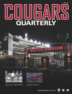 Cougars Quarterly cover (Fall 2012 issue)