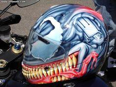 Cool Bike Helmets, Custom Motorcycle Helmets, Helmet Paint, Skull Head, Ski And Snowboard, Kustom, Sport Bikes, Cool Bikes, Tins