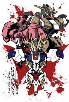 Iron blood Gundam Flauros, Barbatos Lupus Rex, Gurren Laggan, Fallout Concept Art, Blood Orphans, Gundam Iron Blooded Orphans, Gundam Wallpapers, Gundam Custom Build, Mecha Anime
