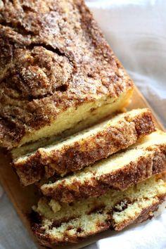 This Vegan Cinnamon Swirl Cake is super Easy and Quick. A simple yellow cake, swirled with cinnamon sugar makes for a delightful treat. Add some nuts into the swirl for variation #Vegan #Nutfree #Soyfree #Dessert #Recipe #veganricha | VeganRicha.com