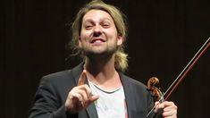 David Garrett bedankt sich beim Orchester und seinem Lehrer Zakhar Bron ...