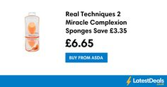 Real Techniques 2 Miracle Complexion Sponges Save £3.35, £6.65 at ASDA