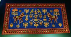 """Tapestry Needlework Wall Hanging Runner TREE of Life Horses 36X18""""   Click pic for more pictures."""